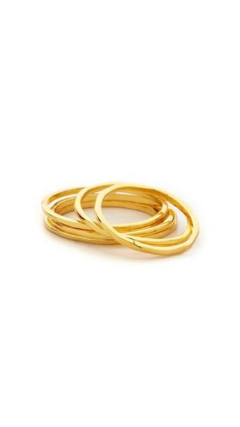 Gorjana Mixed Size Simple Ring Set - Gold