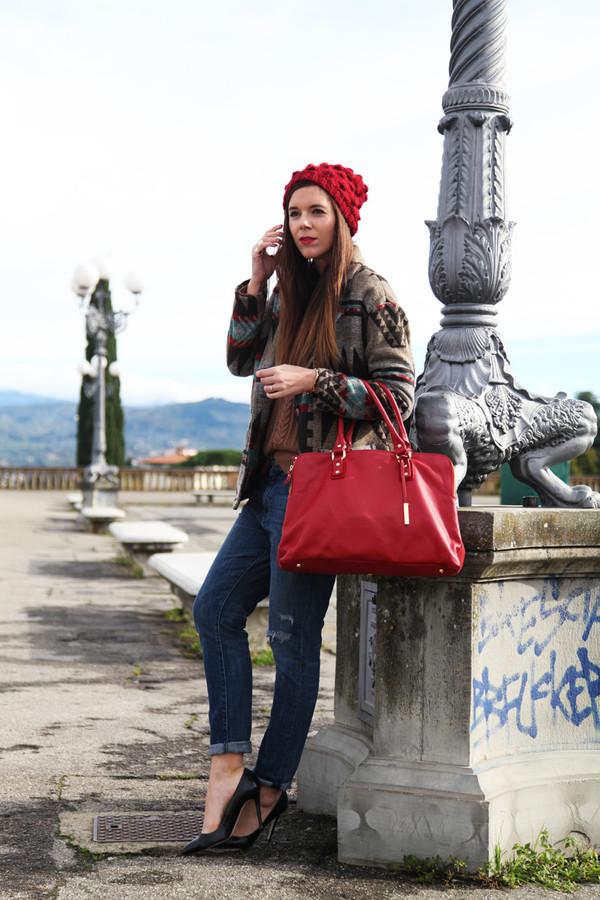 irene's closet coat shoes sweater bag hat