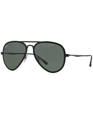 cc57d83e741e Ray-Ban Sunglasses, RB4211 AVIATOR LIGHT RAY II - Sunglasses by Sunglass Hut  - Men - Macy's