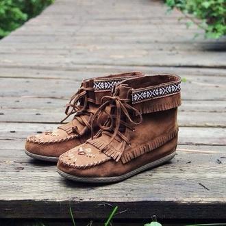 shoes boho boots brown autum shoes