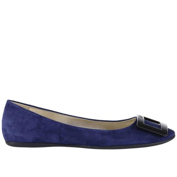 Roger Vivier ballet women flats shoes ballet flats blue