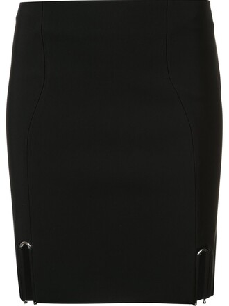 skirt mini skirt mini slit black