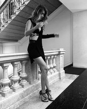dress,one shoulder,black dress,gigi hadid,instagram,fashion week,sandals,shoes