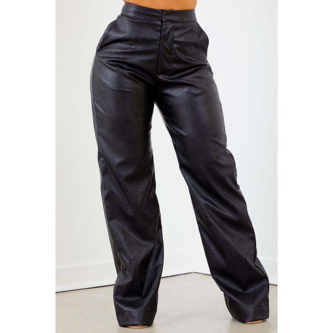 Sorella PU Trouser Pant - Black