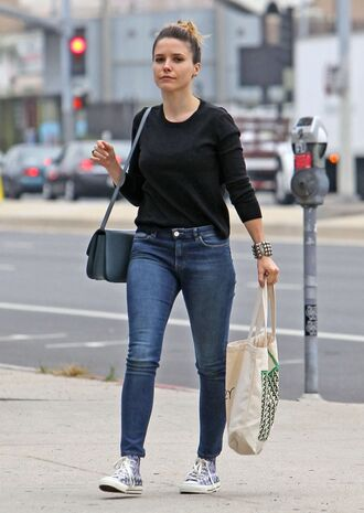 top jeans denim sophia bush sneakers purse shoes
