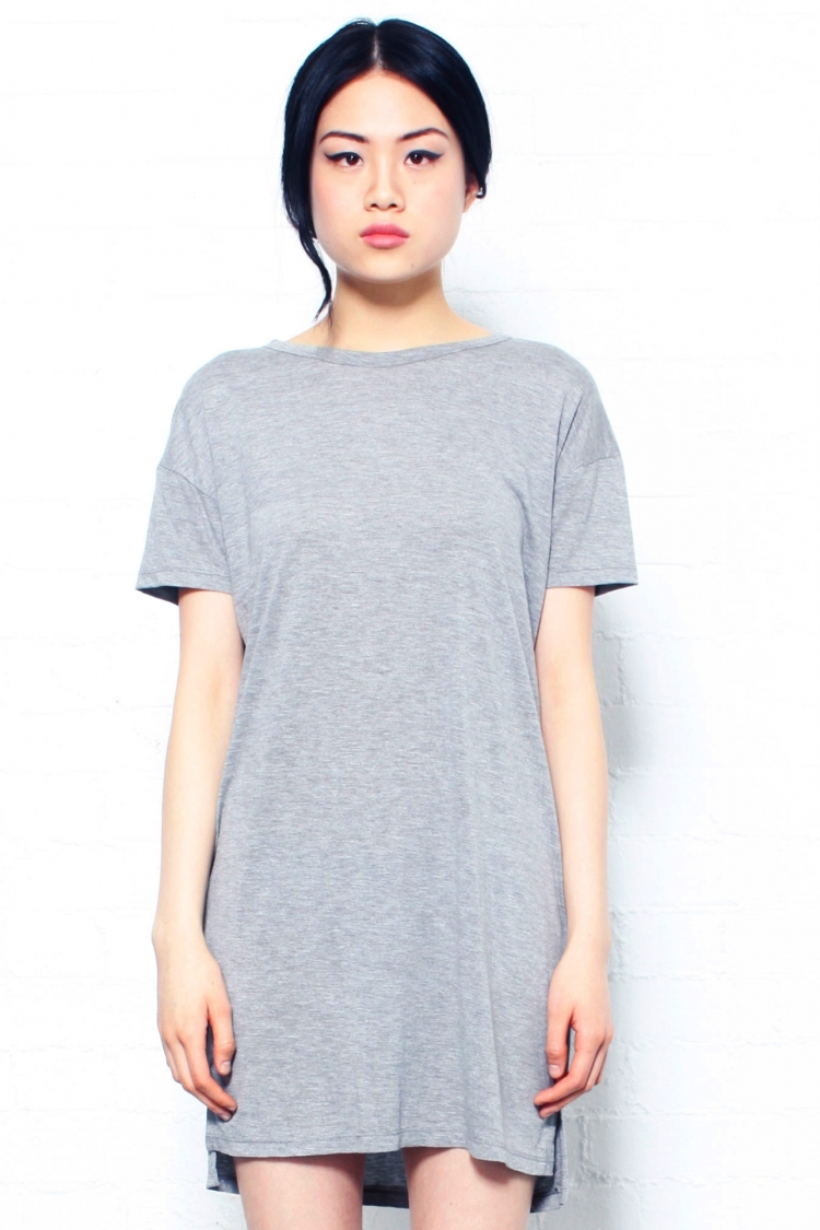 The Lulus Better Together Grey Shirt Dress is a number that is sure to beckon you from your closet! This super comfy jersey knit dress has a V neckline and /5().