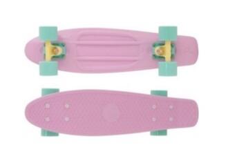 home accessory skateboard pastel cute mint pink penny board summer sports