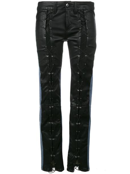 Filles à papa jeans skinny jeans women spandex leather cotton black