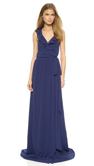 dress ruffle dress ruffle blue