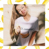 dolce and gabbana,graphic tee,banana print,grunge,indie,hipster