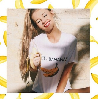 dolce and gabbana graphic tee banana print grunge indie hipster