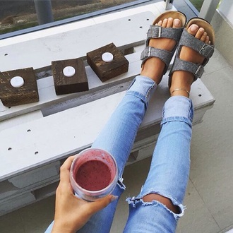 shoes grey grey sandals