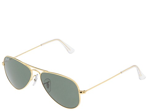 Ray-Ban RB3044 Aviator Metal 52mm Black/G-15xlt Lens - Zappos.com Free Shipping BOTH Ways