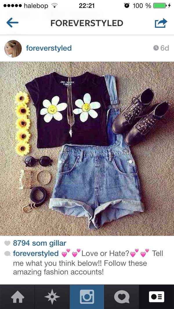t-shirt shorts shoes sunglasses jewels