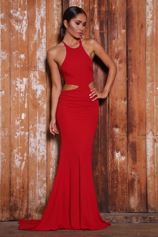 Camilla Gown in Red Abyss by Abby dress Stretch material size XS