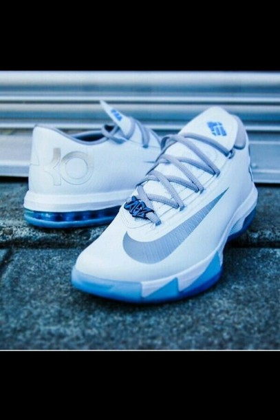 shoes  kevindurant  white  light blue  sneakers  nike  kevin durant  kds