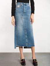 skirt,denim frayed maxi skirt,maxi skirt,denim skirt,frayed denim skirt,denim