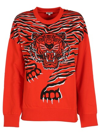 sweatshirt tiger red sweater