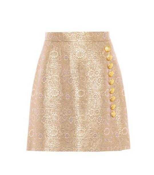 miniskirt gold skirt