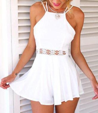 dress white dress white top white skirt