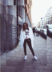 kenza,blogger,bag,adidas,sneakers,coat