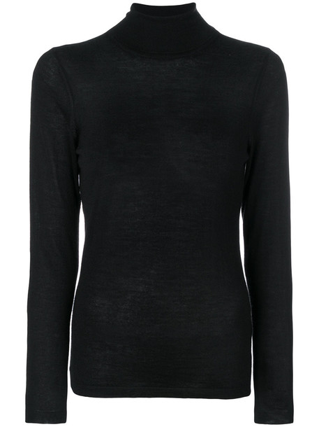 LE TRICOT PERUGIA sweater women black silk