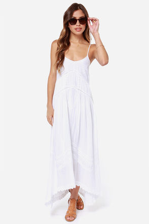 Billabong Sand Kisses Dress - White Dress - Embroidered Dress - $69.50