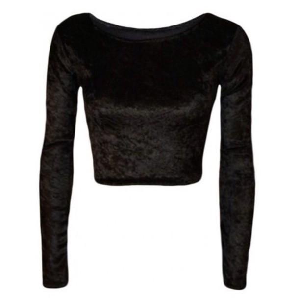 blouse velvet grunge vintage alternative top long sleeves