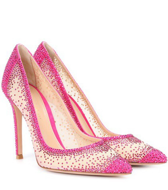 Gianvito Rossi embellished pumps pink shoes