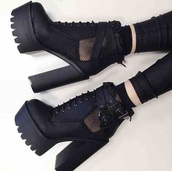 shoes,black,heels,boots,platform shoes,socks,black shoes,black heels,straps,leather,grunge shoes,grunge boots,high heels,platform boots,mesh,net,goth,grunge,tumblr,tumblr girl,tumblr fashion,style,goth shoes,all black everything,noir,black socks,dark,punk,help shoes,i want this boots,i want shoes,i want them,5 seconds of summer,chunky sole,it girl shop,pastel goth,trendy,instagram,soft grunge,girl,hippie,fashion,streetwear,kawaii,weheartit,leder,zaful,girly,grey,stylish