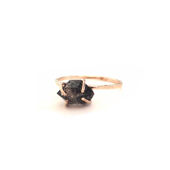 Black Diamond Engagement Ring Valentine's Day by camilaestrella