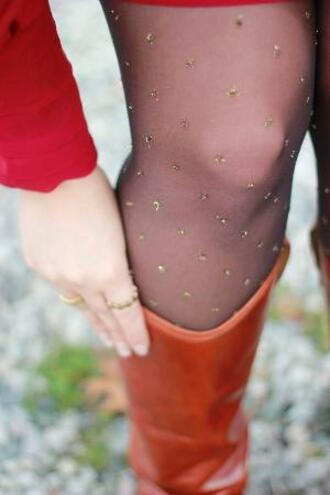 tights sparkle hoise pantyhose