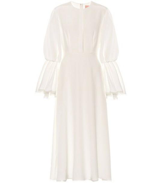 Roksanda dress silk dress silk white