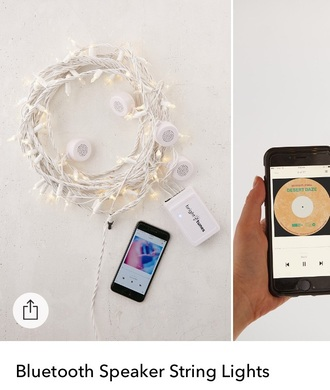 home accessory speaker fairy lights lights wireless speakers cute speaker please help me find it anyone know where to find it?