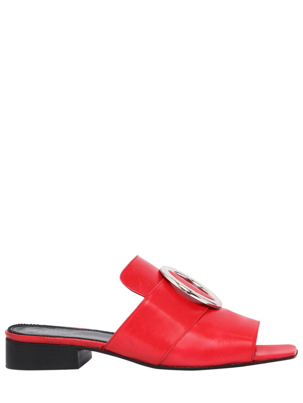 DORATEYMUR 25mm Harput Leather Slide Sandals in red