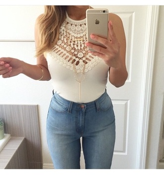 top high waisted jeans pants
