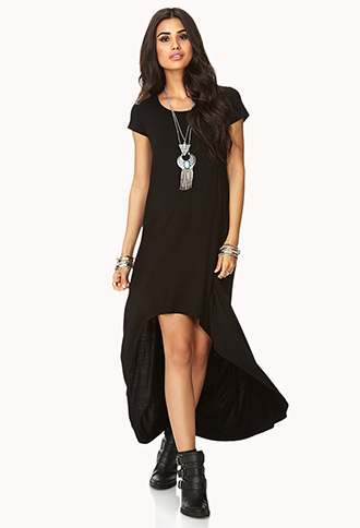 Minimalist High-Low Dress | FOREVER21 - 2000110285
