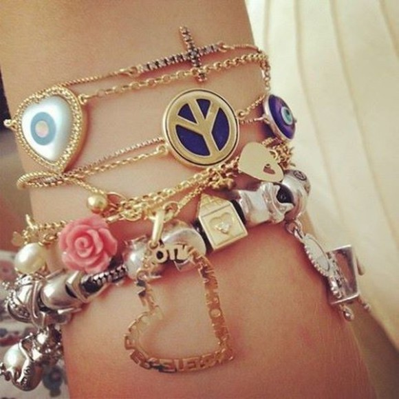jewels friendship bracelet bracelets jewelry set bracelets girly