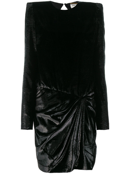 Saint Laurent dress mini dress mini women black silk