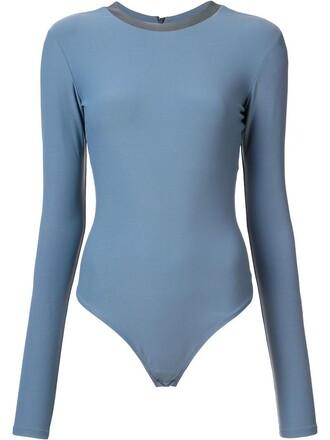 bodysuit women spandex leather grey underwear