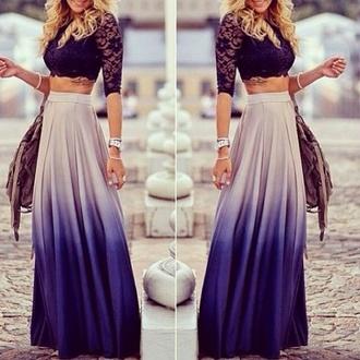 skirt blue skirt maxi skirt blue maxi tank top blue and white