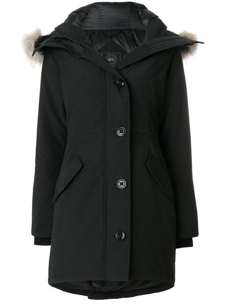 coat fur women cotton black