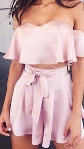 shorts,pink silk pants,sophia miacova