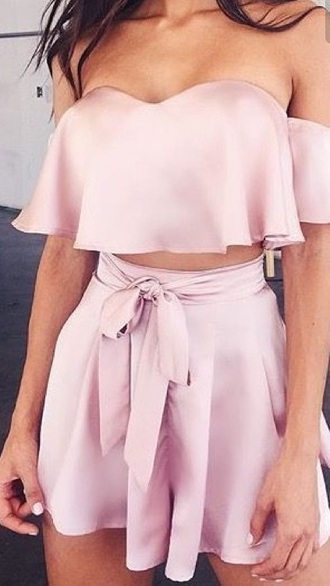 shorts pink silk pants sophia miacova