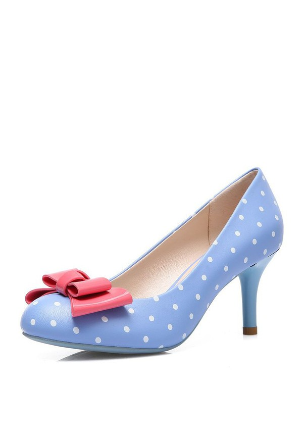 50s style 50s shoes cute shoes polka dots shoes polka dots vintage shoes heel shoes heels women's shoes womens shoes fashion shoes polka dots blue shoes party shoes