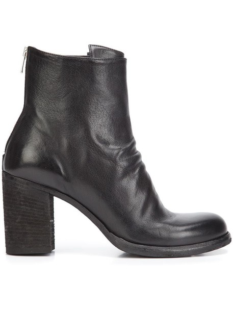 OFFICINE CREATIVE women boots leather black shoes