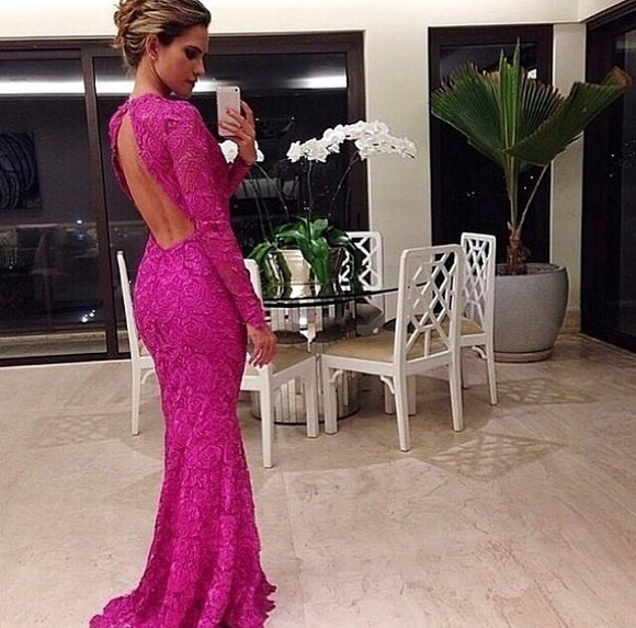 long dress backless