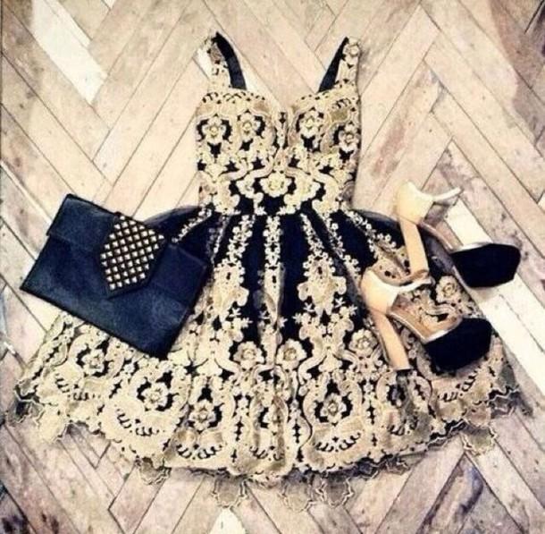 dress designs gold