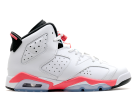 "air jordan 6 retro bg (gs) ""infrared 2014"" - white/infrared-black - Air Jordan 6 - Air Jordans  