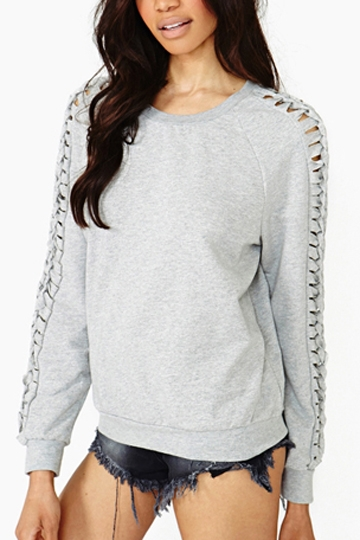Hollow Sleeves Pullover [FOBK0064]- US$29.99 - PersunMall.com